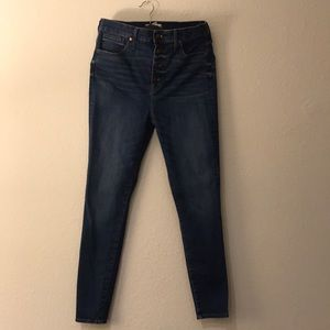 Madewell high rise skinny jeans button fly